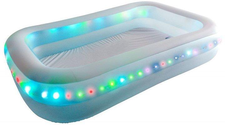 Toppen Jilong uppblåsbar LED-belyst barnpool rektangulär - Faselly SE-38